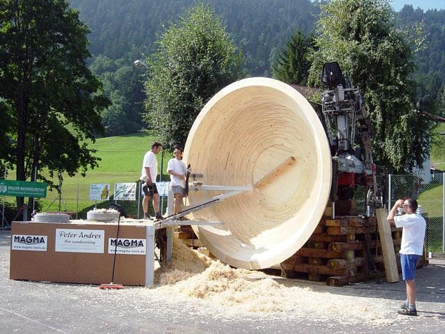 Weltrekord Die Gr 246 223 Te Gedrechselte Holzschale Der Welt